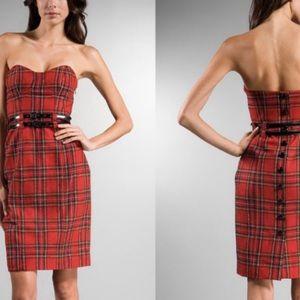 Betsey Johnson Plaid Bustier Dress